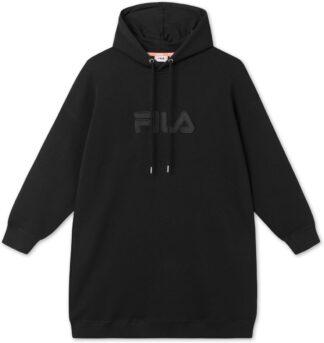 fila abito donna in felpa teofila con cappuccio 687933 002 nero black