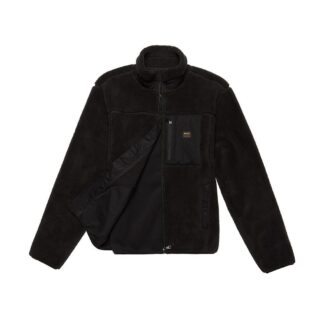 deus ex machina fletcher fleece giubbino nero in pile dmw98021 blk