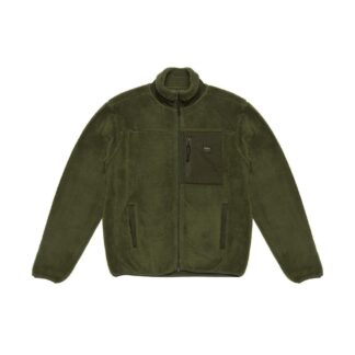 deus ex machina fletcher fleece giubbino verde foresta in pile dmw98021 fgr