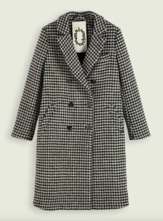 scotch soda cappotto doppiopetto misto lana pied de poule 160417 combo r