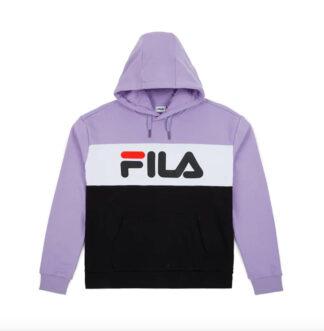 fila felpa modello lori hoody con cappuccio lilla 687042 a067 violet tulip black bright white