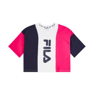 fila maglietta corta bai cropped fucsia 687492 a222 pink yarrow black iris bright white