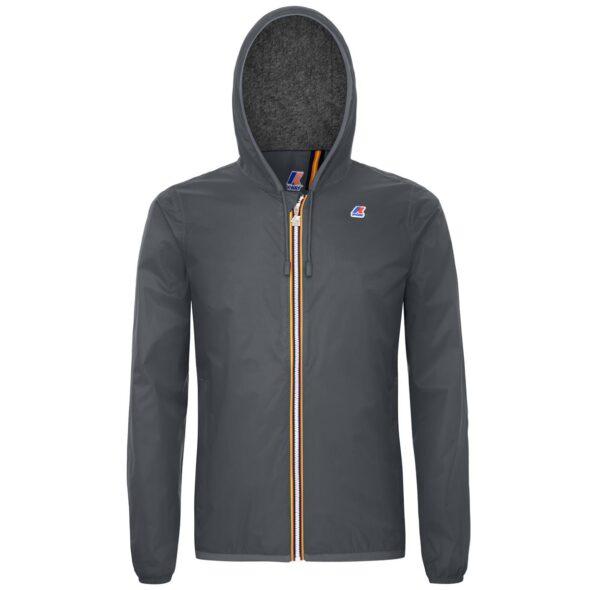 k way giubbino uomo modello jacques nylon jersey grigio k007a10 x5r grey smoked