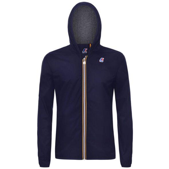 k way uomo modello jacques nylon jersey blu k007a10 k89 blue depht