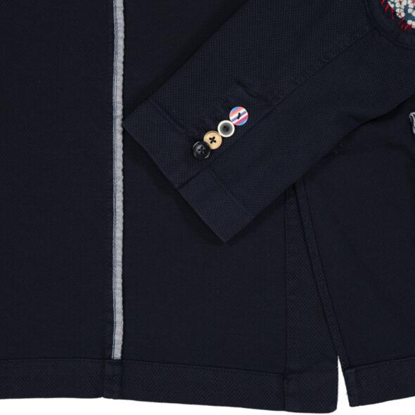 bob giacca uomo due bottoni jerset piquet dan vr67 blu con toppe