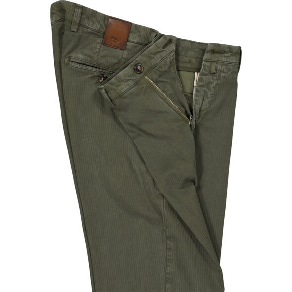 briglia 1949 pantalone slim uomo bg05 320745 772 cotone costina delavè verdone