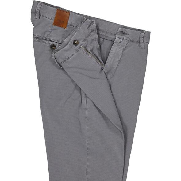 briglia 1949 pantalone slim uomo bg05 37722 780 cotone delavè grigio medio micro quadretto tono su tono