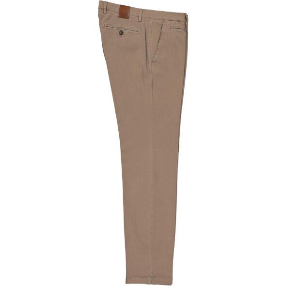 briglia 1949 pantalone slim uomo bg05 37756 736 cotone piquet delavè beige scuro