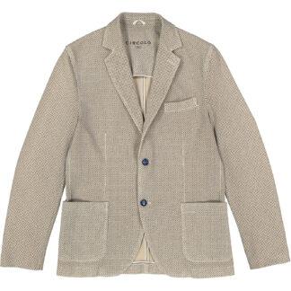 circolo 1901 giacca uomo 2 bottoni cotone jersey elasticizzato micro fantasia beige cn1090