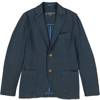 circolo 1901 giacca uomo due bottoni tasche applicate jersey elasticizzata cn1105 micro fantasia avio