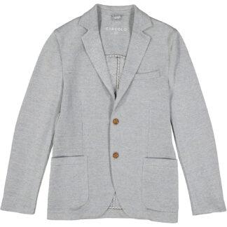 circolo 1901 giacca due bottoni uomo tasche applicate cn1116 piquet lino grigio perla
