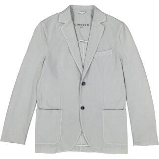 circolo 1901 giacca uomo 2 bottoni cotone jersey ultra leggera cn1384 grigio chiaro