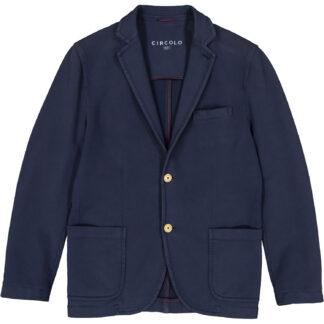 circolo 1901 giacca uomo 2 bottoni cotone jersey tasche applicate a toppa cn781 blu navy 6302