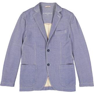 circolo 1901 giacca uomo due bottoni cotone jersey elasticizzata micro fantasia fil a fil cn809 221a5 azzurra
