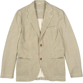 circolo 1901 giacca uomo due bottoni tasche applicate cn837 jersey elasticizzato micro fantasia 221a7 beige naturale