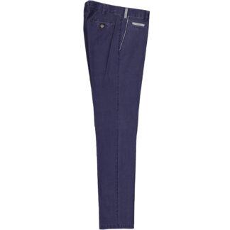 mascaro pantalone uomo slim mod 80 cotone 110 principe di galles blu denim 88