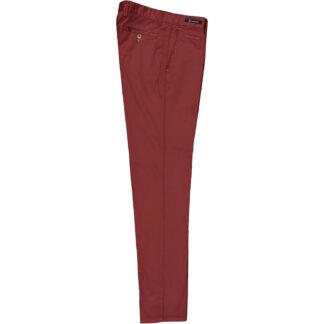 mascaro pantalone slim uomo mod 80 popeline cotone 10 tinta unita rosso india 21