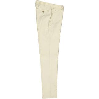 mascaro pantalone uomo slim popeline cotone mod 80 tinta unita beige chiaro 87 21