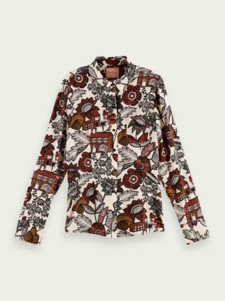 scotch soda donna camicia stampa 161485 0127