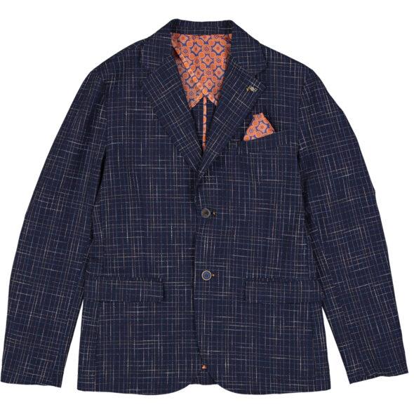 bob giacca uomo due bottoni cotone donet t536 536 blu navy trama in rilievo