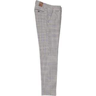 briglia 1949 pantalone slim uomo b05 cotone 320155 quadretti 23 blu
