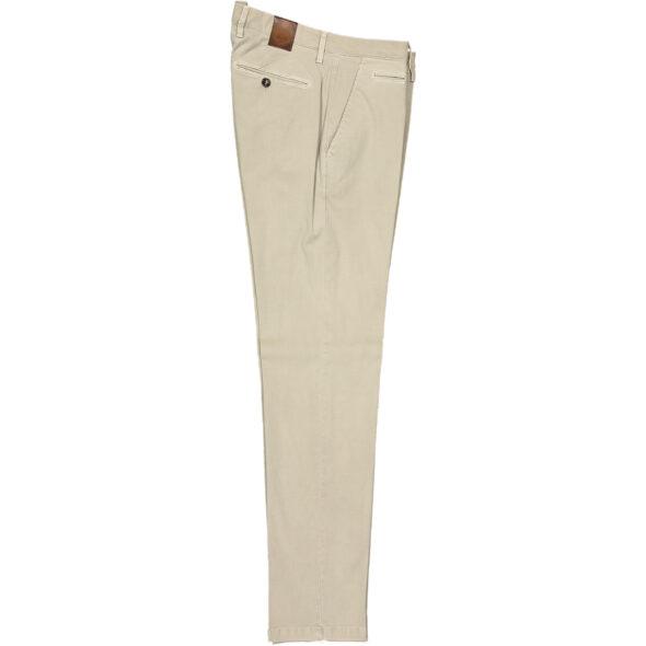 briglia 1949 pantalone slim uomo bg05 320511 523 cotone piquet delavè beige chiaro