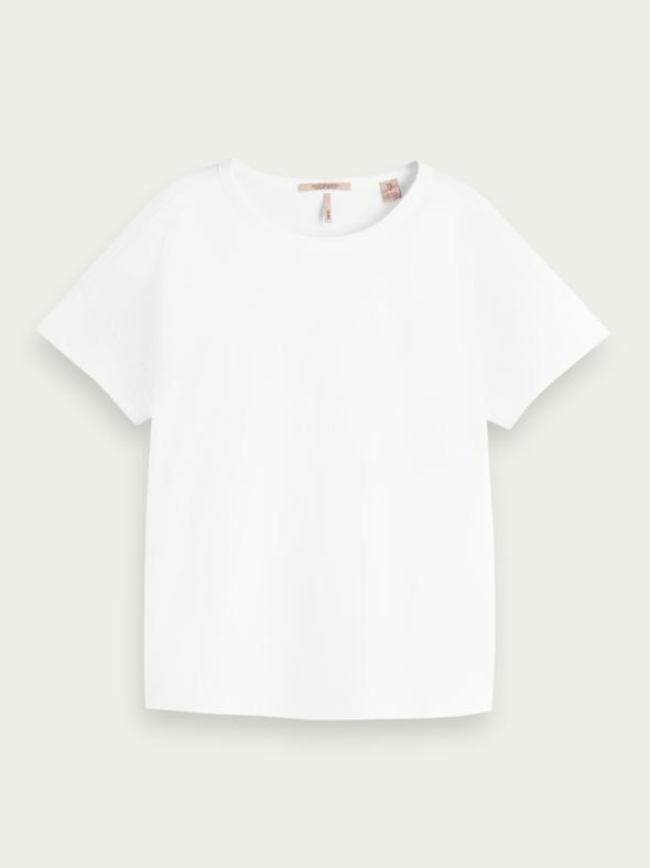 scotch&soda donna t-shirt bianco mezza manica 161721 0006