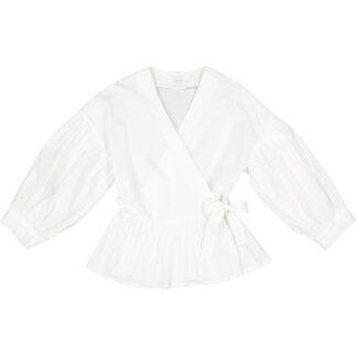 1978 camicia popeline cotone giovanna allacciatura sovrapposta cb229 bianco