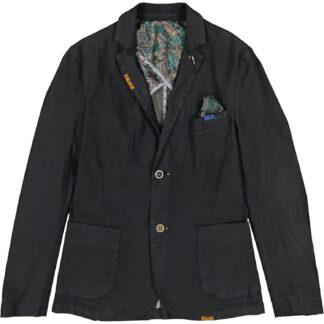 bob giacca uomo due bottoni cotone piquet rich 64 t64r124 blu scuro
