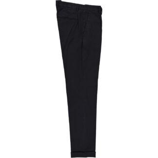 briglia 1949 pantalone slim uomo con pences bg07 320514 511 cotone elasticizzato millerighe blu medio