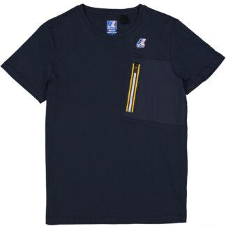 k way maglietta mezza manica girocollo isaie le vrai k00beu0 k89 blue depht