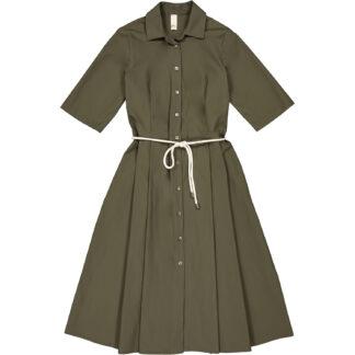 etici abito camicia colore verde militare in cotone a27148 00701