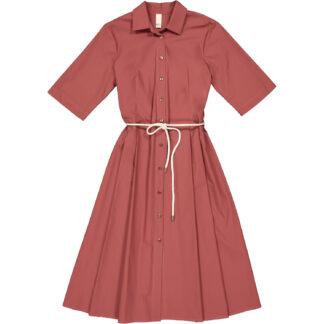 etici abito camicia colore marsala in cotone a27148 00414