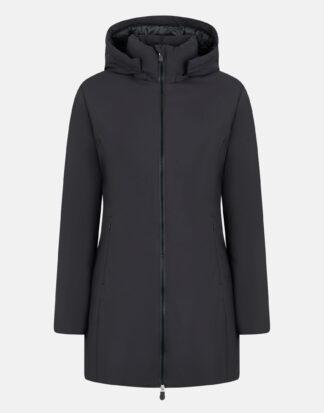 save the duck donna modello d40060w rachel con cappuccio staccabile colore black 1000